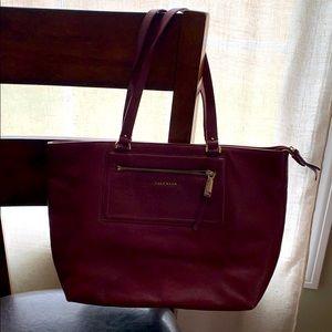 Cole Haan Maroon Leather Bag